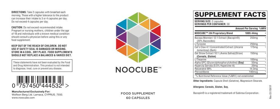 noocube label
