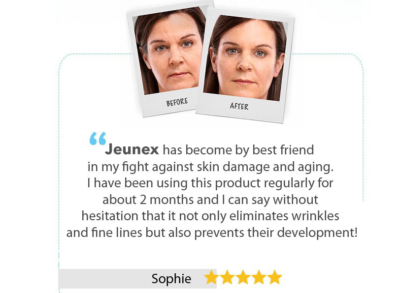 Jeunex before and after pic