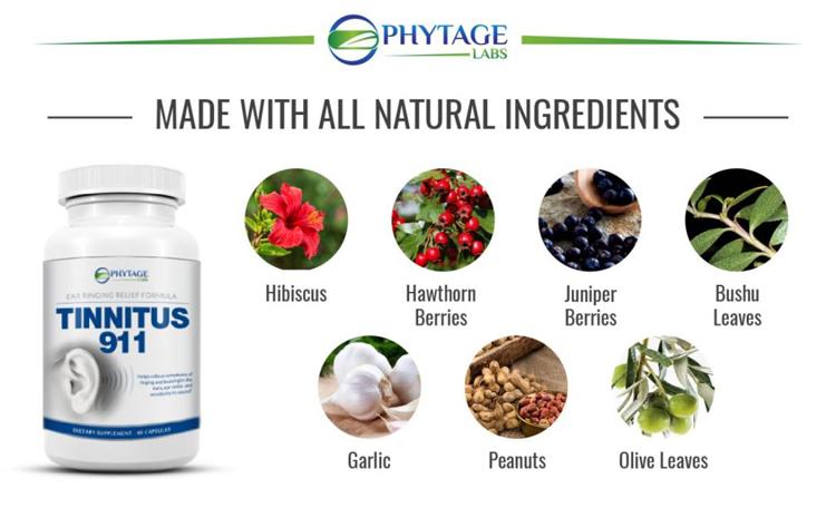 phytage labs tinnitus 911 ingredients