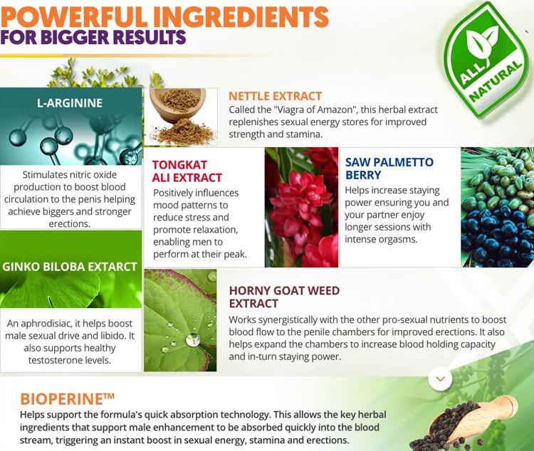 vixea manplus Ingredients