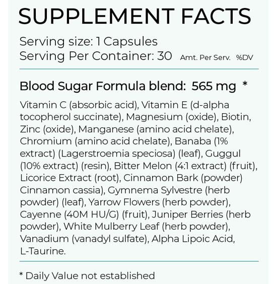 Blood sugar formula Facts